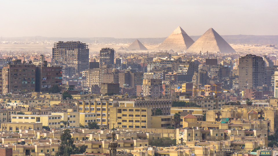 CAIRO - DECEMBER 28 : View from Cairo Citadel in the morning Dec. 28,2017 in Cairo, Egypt.