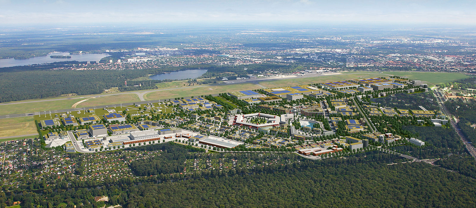 aerial photograph of the future research and industrial park
